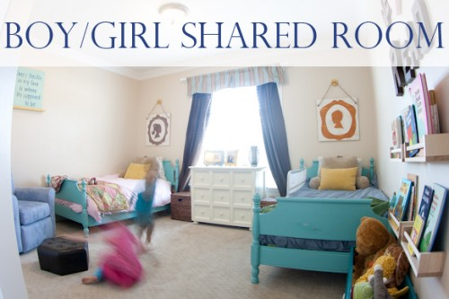 Furniture redos lynn spin for Shared boy and girl room ideas